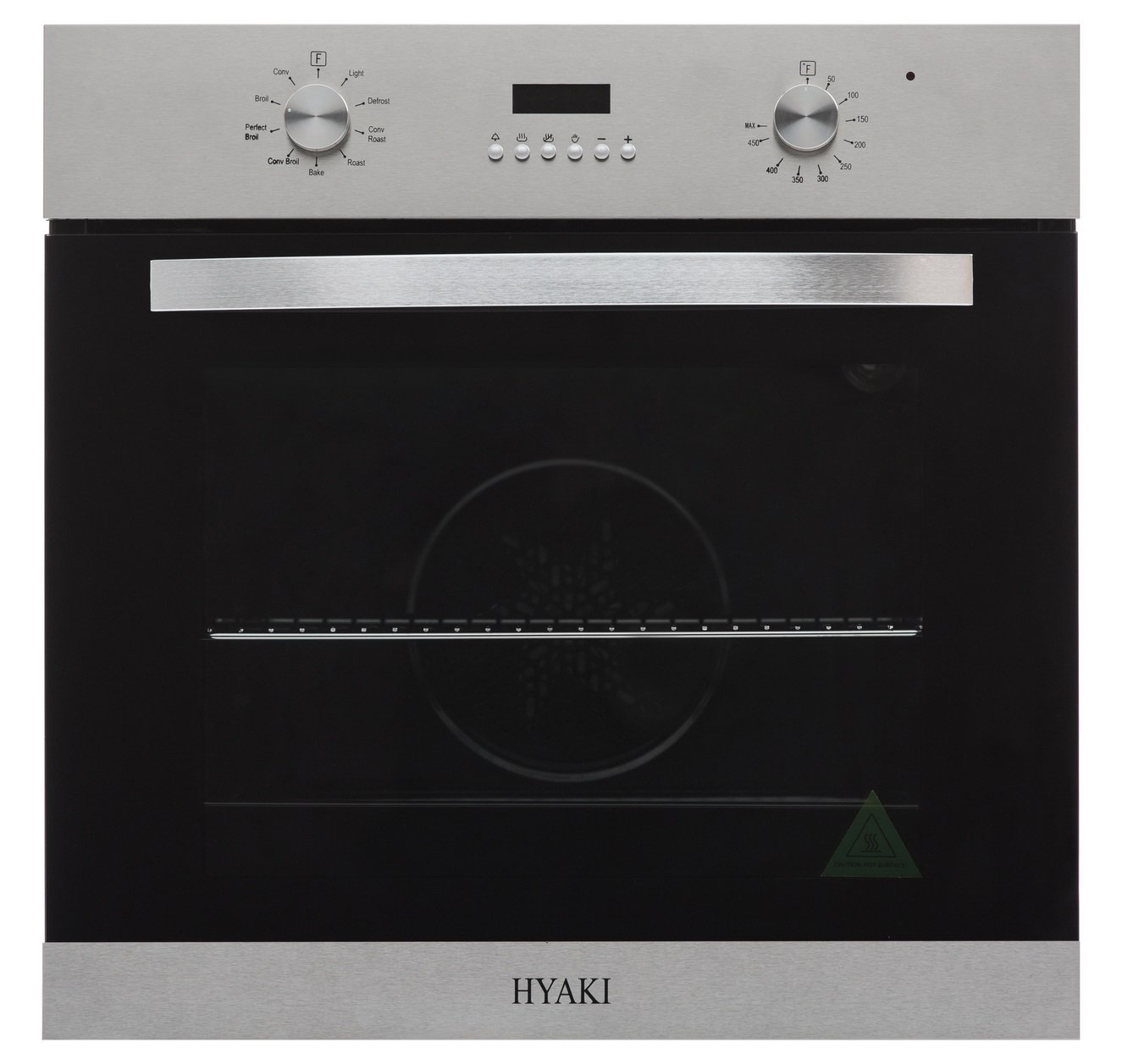 "Hyaki 24"" Modern Style Stainless Steel Built In Electric single Wall Oven HYK-24WOX15"