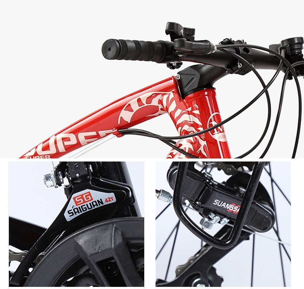 LFDHSF Bicicleta de montaña de 24 velocidades para Hombre ...