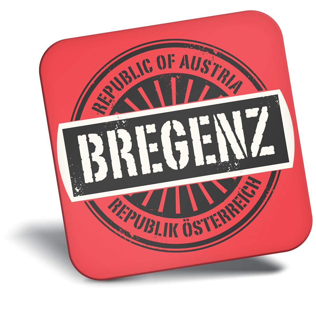 Destination Vinyl ltd Awesome Fridge Magnet - Repubblica of Austria Bregenz Austrian 7397