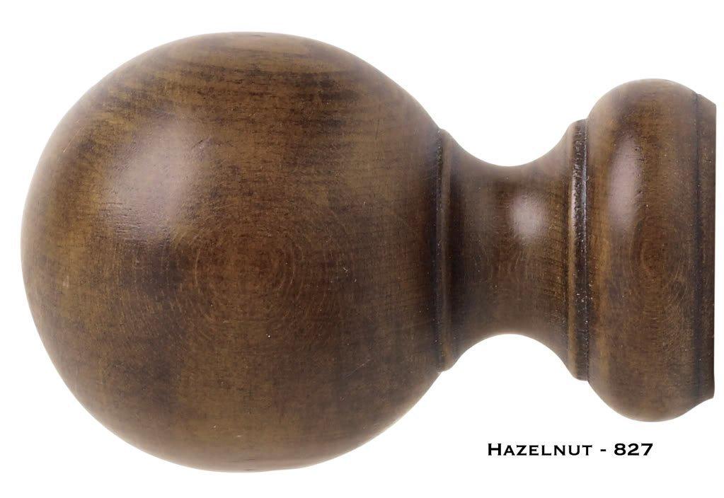 Kirsch Ball Finial Hazelnut