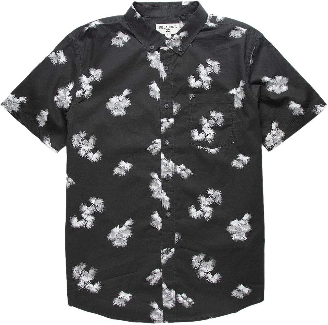 Billabong Large discharge sale Men's Sundays Mini Popularity Woven Shirt Short Sleeve