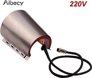 Aibecy Conical Mug Cup Press Heating Transfer Attachment Silica Gel 17oz 110V for Heat Press Machine Transfer Sublimation