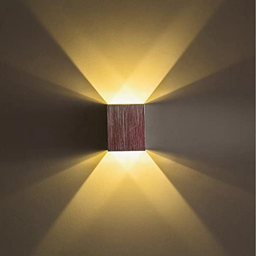 KuLio 1W LED Wall Sconce Light Fixture Indoor Hallway Up Down Wall ...