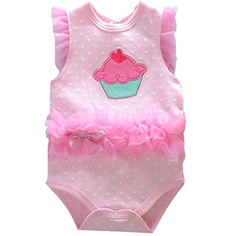 Vine Body para Bebé Niñas Monos Bebés Peleles Princesa Mameluco con Bowknot