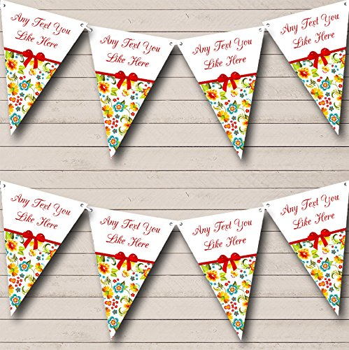 - Bright Summer Shabby Chic Welcome Home New Baby Bunting Banner Garland