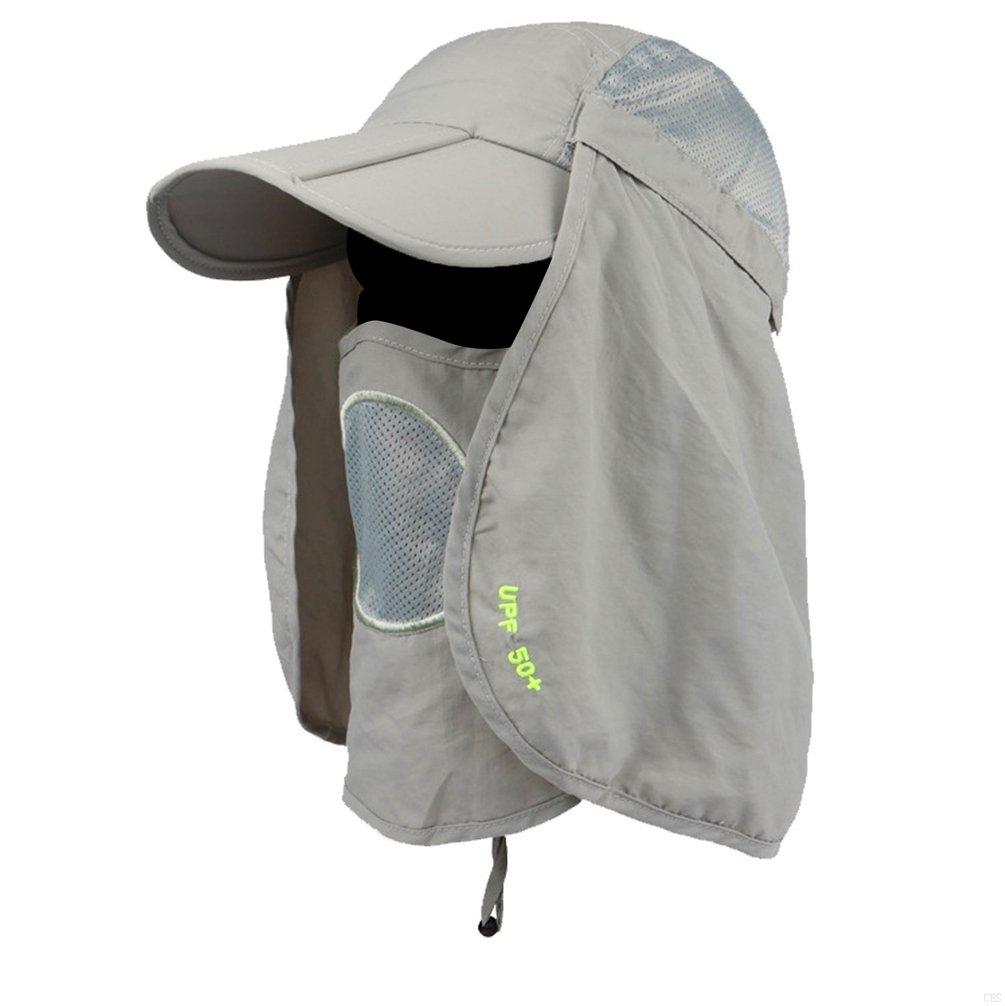 f560f3b0fba GADIEMKENSD UPF 50+ Folding Fishing Hat Adjustable UV Protection Mask  Removable Legion Hat 360 Outdoor