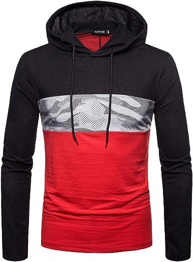 Siviki Mens Long Sleeve Digital Print Hooded Sweatshirt Tops Coat Outwear Fashion Hoodies Black