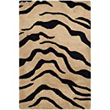 Safavieh Soho Collection SOH789A Handmade Gold and Black Premium Wool Area Rug (2′ x 3′)