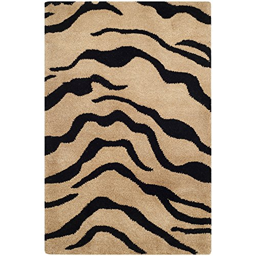 Safavieh Soho Collection SOH789A Handmade Gold and Black Premium Wool Area Rug 2 x 3