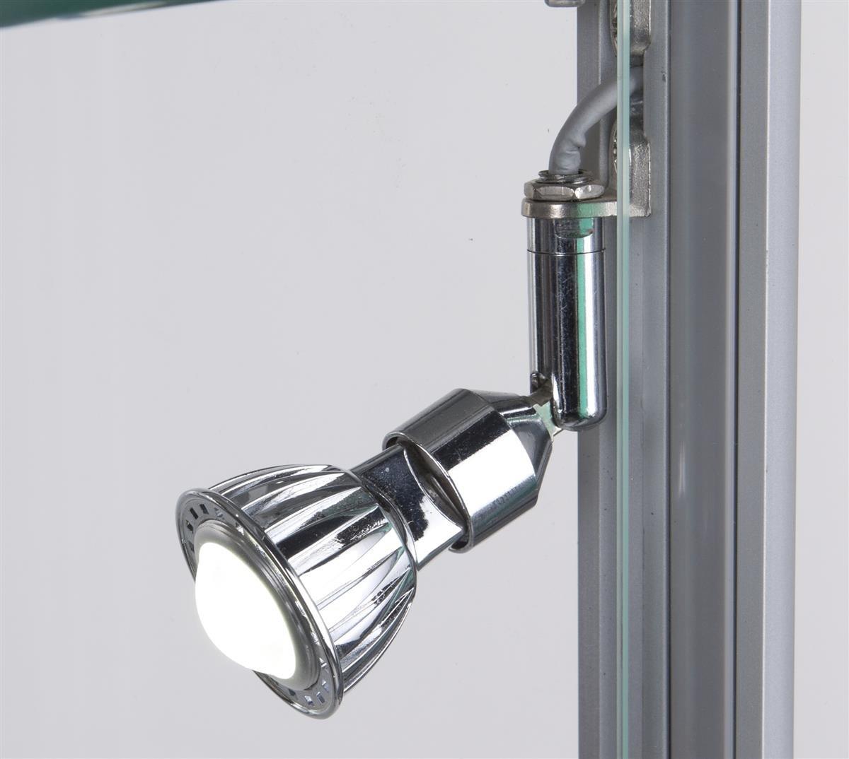 Glass Curio Cabinets With Lights Amazoncom Tempered Glass Curio Cabinet With 8 Halogen Lights 78