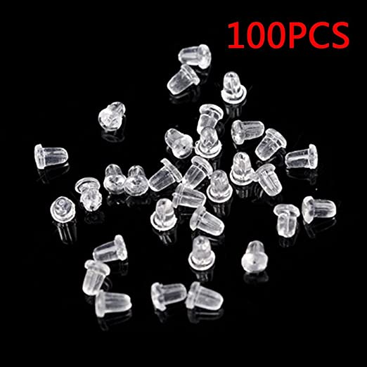 36 pc Earring Safety Backs Stoppers Replacement for Studs or Secure Hook Earring