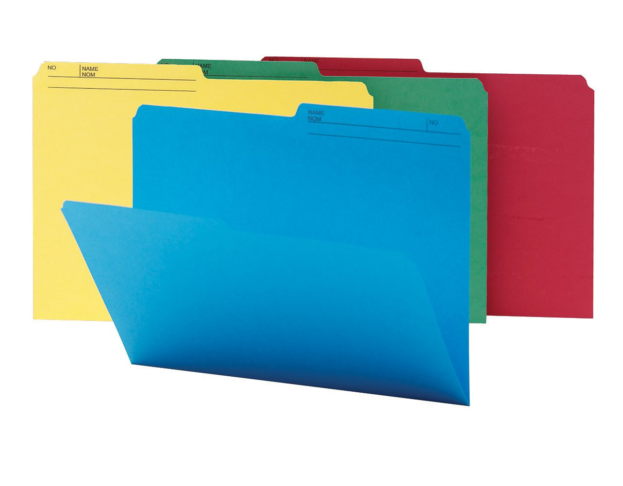 Smead WaterShed/CutLess File Folder, 1/2-Cut Tab, Legal Size, Assorted Colors, 100 per Box (16958)