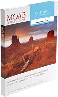 """product image for Moab Entrada Rag Textured 300 Matte Surface Single-Sided Inkjet Print Paper, 22.5mil, 300gsm, 13x19"""", 25 Sheets"""