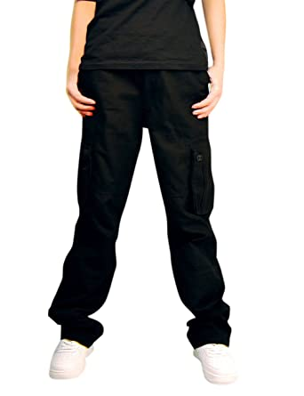 5d2b2bb6fc Mens Multi Pockets Cargo Pants Military Style with Belt at Amazon ...