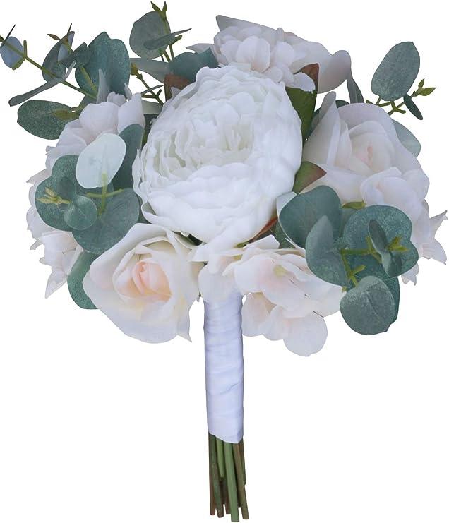 Navy Blue Artificial Wedding Flowers Bride Bridesmaid Flower Girl Shower Bouquet