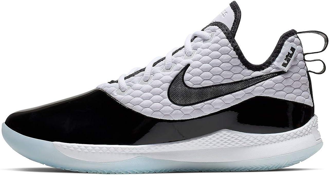 Nike Men's Lebron Witness III PRM Basketball Shoe (15 M US, White/Black/Half Blue)