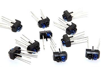 10 x TCRT5000 reflectante infrarrojos sensores ópticos Tx Rx: Amazon.es: Informática