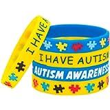 Casa De Novia Jewelry 5 Pack Austim Awareness Silicone Bracelet Emergency Wristband Medical Wristband Bracelet