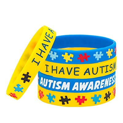 Autism Awareness Silicone Sports Wristband Bracelets