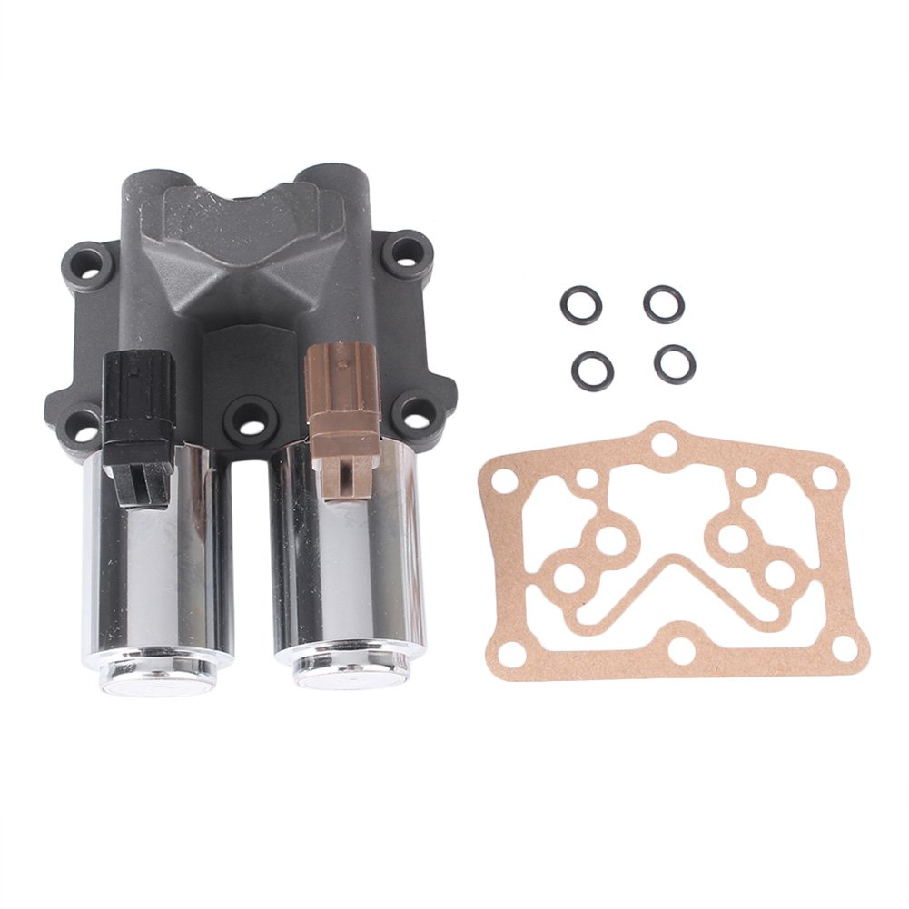 Mallofusa Transmission Dual Solenoid Replacement Linear Shift Solenoid with Gasket for Honda Civic 2006-2011