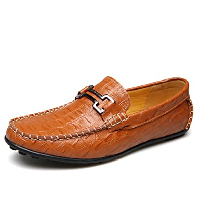 b33d79979b1 OUOUVALLEY Men s Driving Shoes Premium Genuine Leather Fashion Slipper Casual  Slip On Loafers Shoes 1155 Yellow