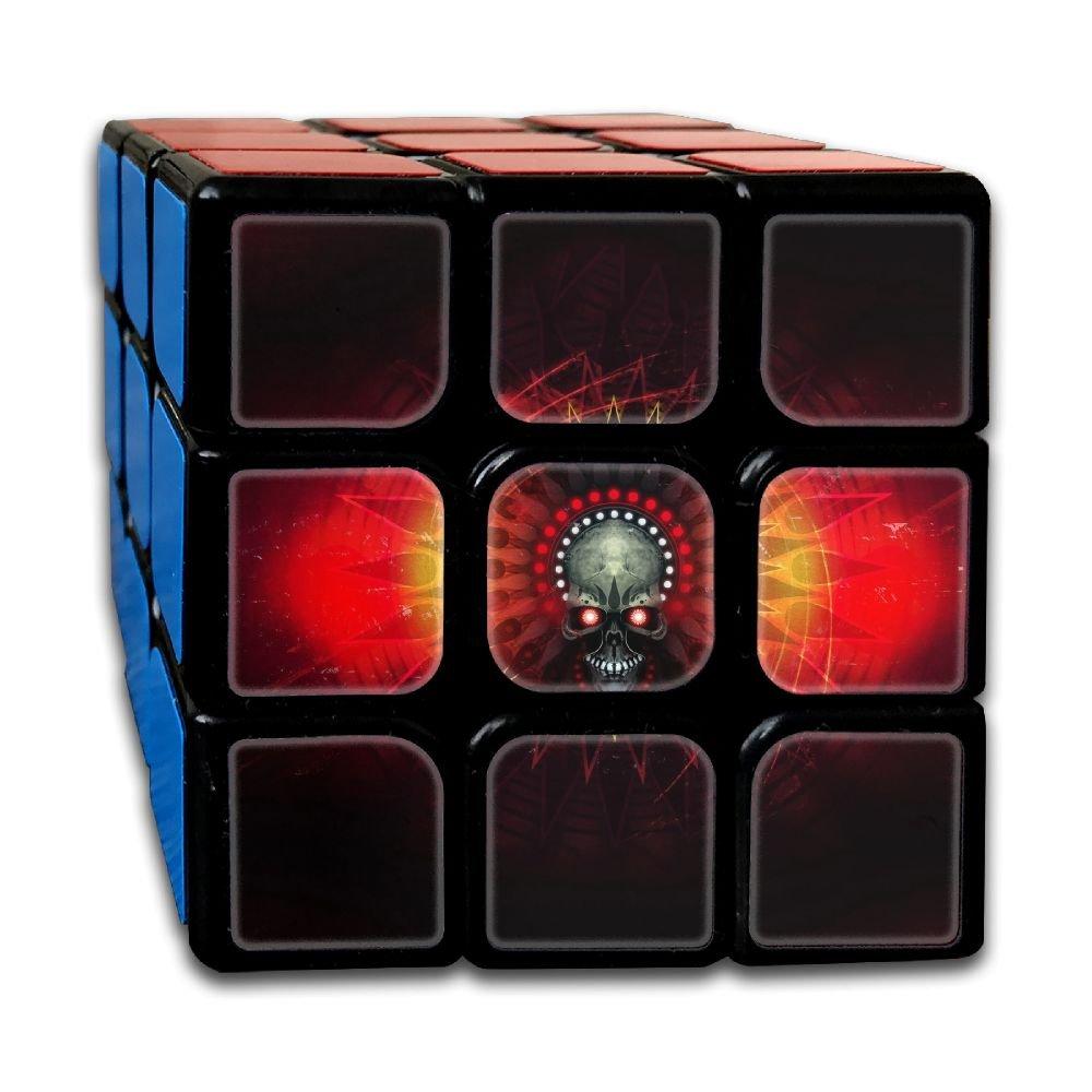 AVABAODAN Magic Skull Rubik's Cube 3D Printed 3x3x3 Magic Square Puzzles Game Portable Toys-Anti Stress For Anti-anxiety Adults Kids