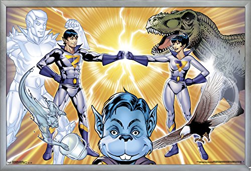 Trends International Super Friends-Wonder Twins Wall Poster, 24.25