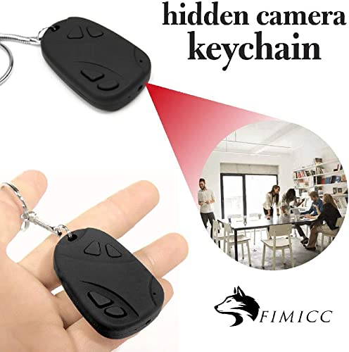 Mini Hidden Camera Key Ring by fimicc – Undetectable Small and Portable with Rechargeable Battery – HD 720P Video Recording – Mini Camera for Personal Office and Home Security