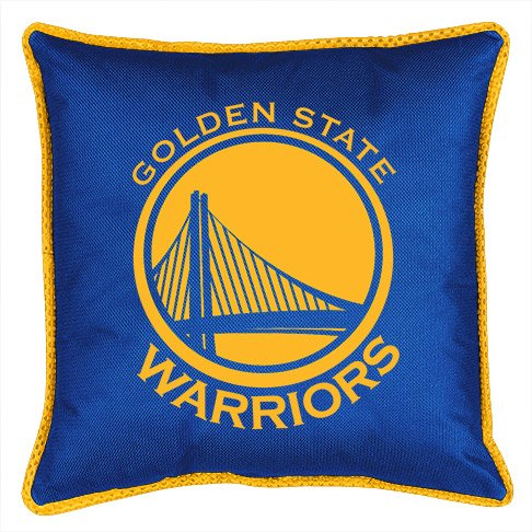 NBA Golden State Warriors Sidelines Toss Pillow, 17 x 17, Bright Blue State Throw Pillow