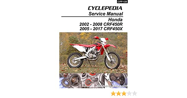 Cpp 125 Print Honda Crf450r Honda Crf450x Print Motorcycle Service