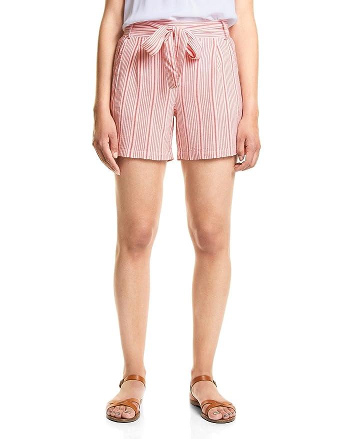 Street One A371472, Pantalones Cortos para Mujer, Multicolor (Hibiscus Red 21346), 44W (Talla del Fabricante: 44)