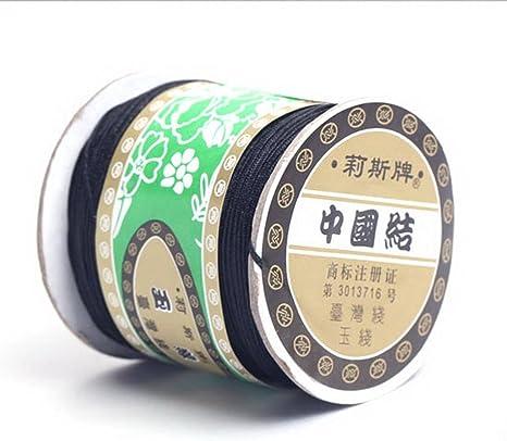 Bigood Nylon Thread Chinese Knot Macrame Braided String 0.8mm 135m Red