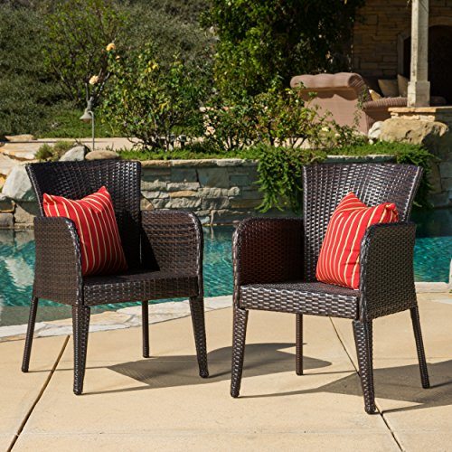 Christopher Knight Home (Set of 2 Seawall Outdoor Wicker Dining Chair