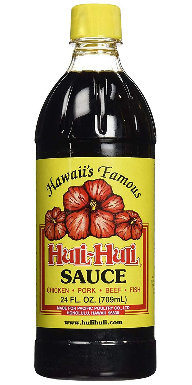 World Market Hawaii's Famous Huli-Huli Sauce - Hawaiian BBQ Sauce - Meat Rub BBQ Marinade Sauce and Steak Seasoning - Low Sodium BBQ Sauce - Gluten-Free Sauce Marinades - 24 Ounce - 1 Pack