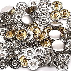 10 Pack Nickel 12 mm Spring Button Glove Snaps 1248-02