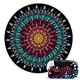 Ricdecor Beach Towel Large Mandala Beach Towel Blanket with Tassels Ultra Soft Super Water Absorbent Multi-Purpose Beach Throw 59 inch across By (NO.33)