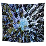 Lucid Eye Studios Tapestry Wall Hanging- Tree Tapestry- Nature Tapestry- Blue Green Wall Art- Trunk Vision Tapestry- Vibrant Wall Hanging- Adventurer Style- 51 x 58 inches
