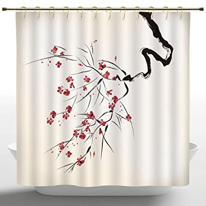 Shower curtains asian style