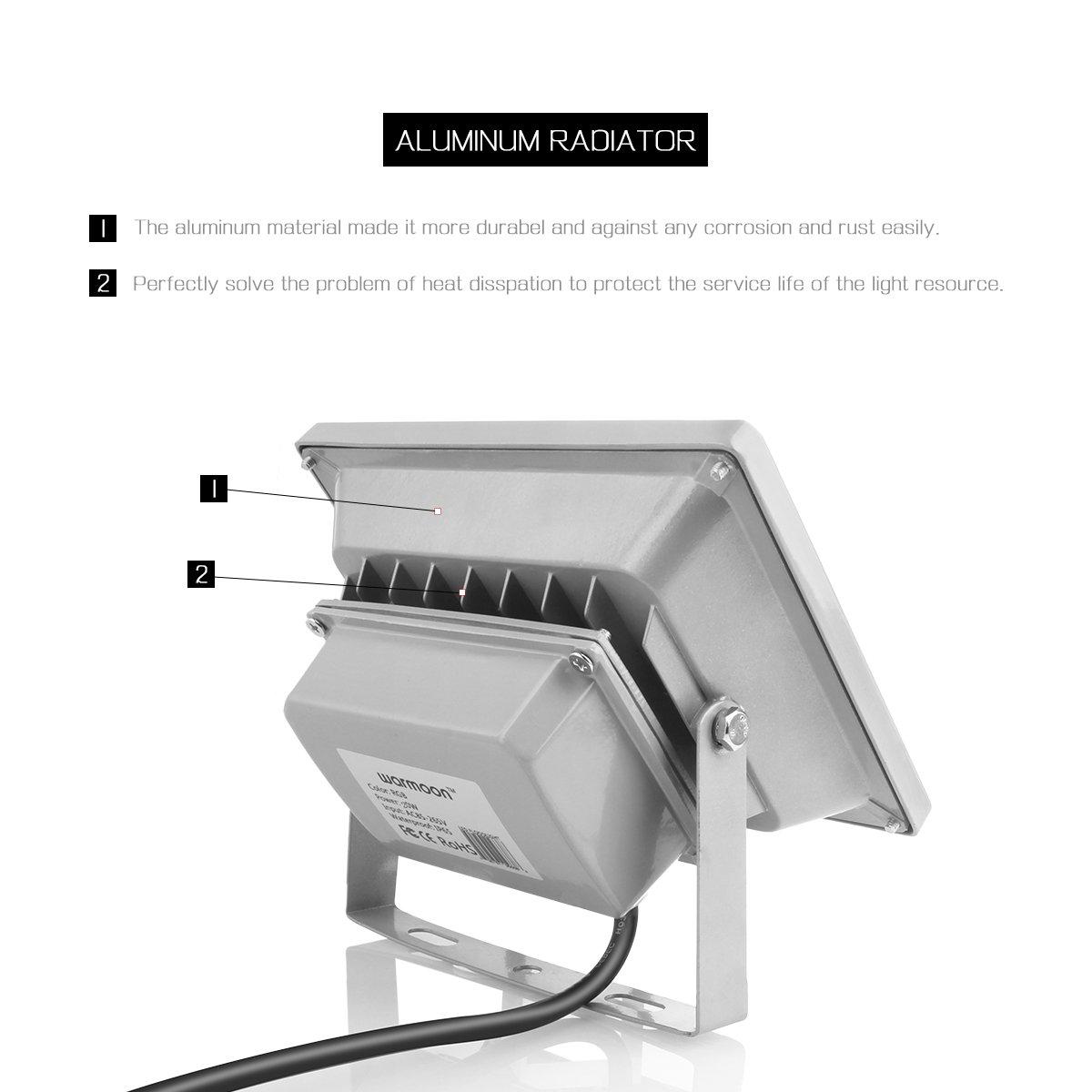 warmoon LED Landscape Lights Waterproof 3200K Warm White SC214