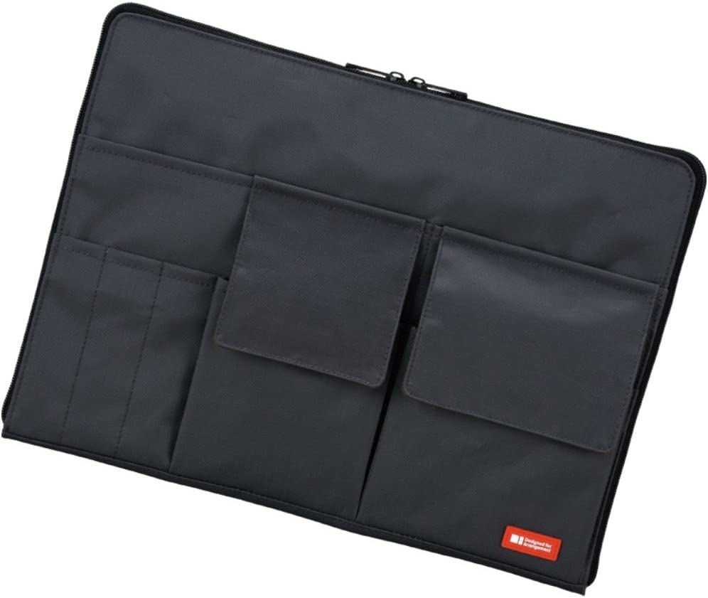 LIHIT LAB Laptop Sleeve with Storage Pockets (Bag-in-Bag), 10 x 13.8 Inches, Black (A7554-24)