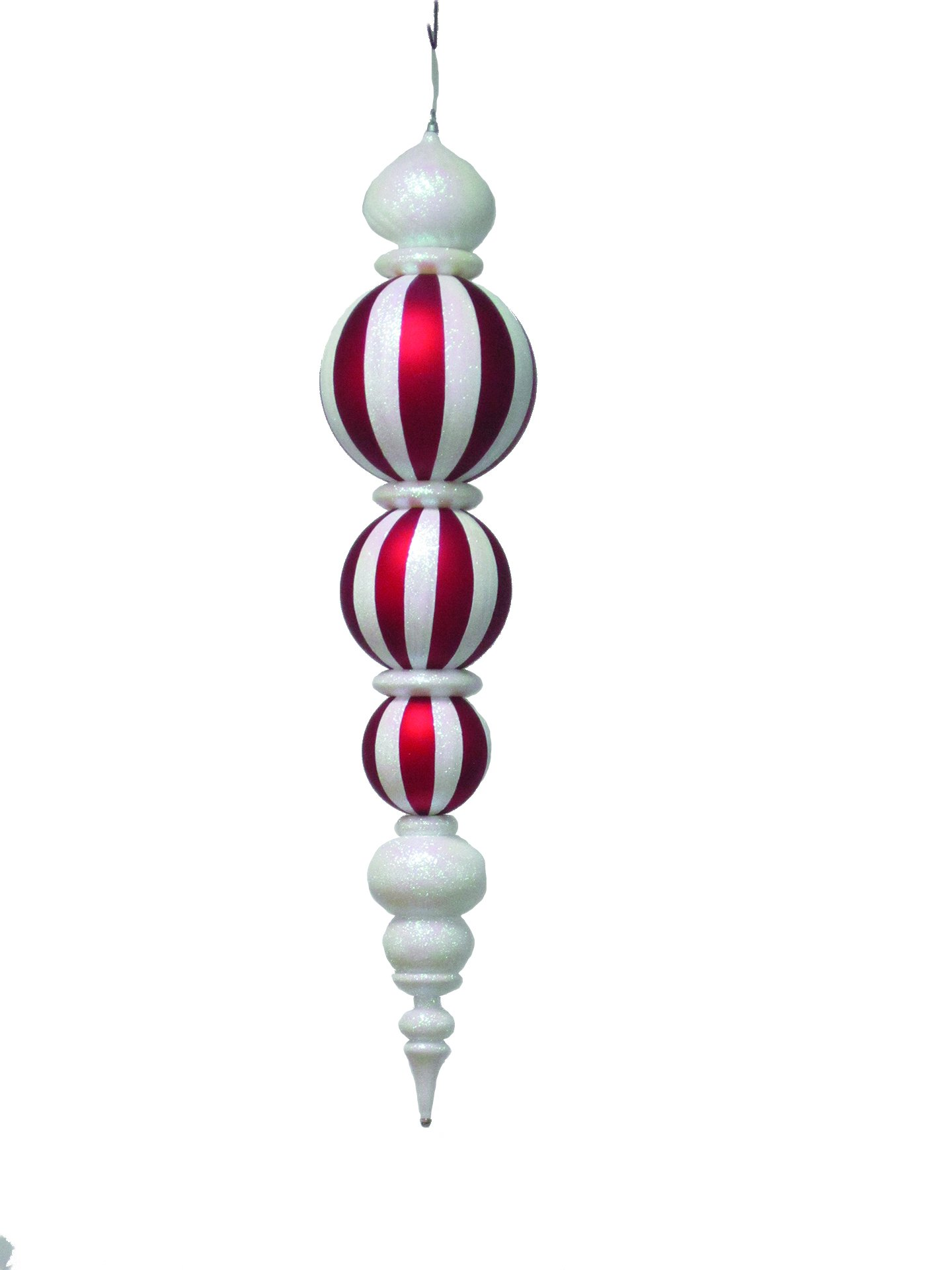 Queens of Christmas WL-ORN-53-WH Oversized Christmas Decor Ornament, 54'', White