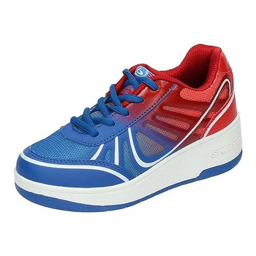 BEPPI 2150402 Zapatillas DE Ruedas NIÑO Deportivos Azul-Rojo 36: Amazon.es: Zapatos y complementos