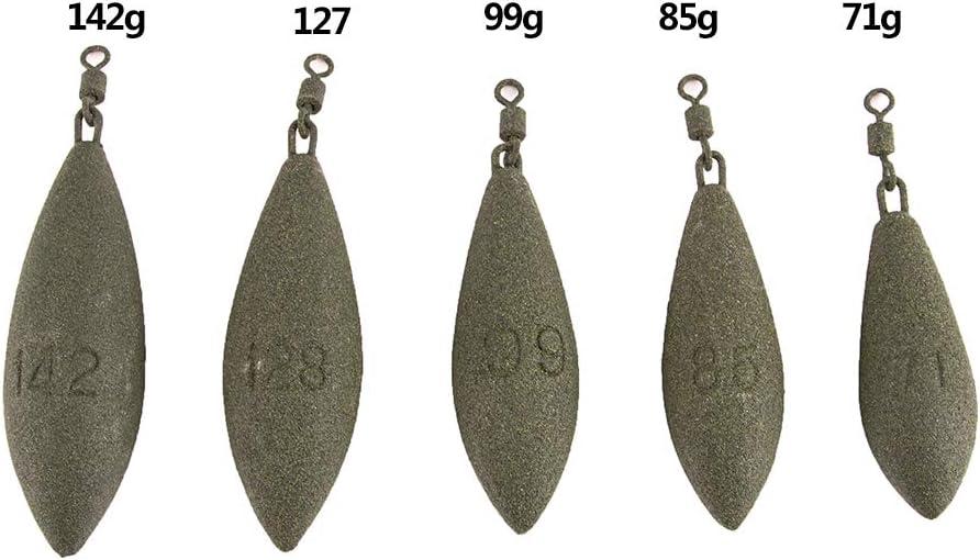 85g VAILANG Plomo de Pesca Peso del Plomo Pesas de Forma Ovalada Aparejo Giratorio Cables de Carpa Accesorios 71g 127g 99g 142g Plomo 71g