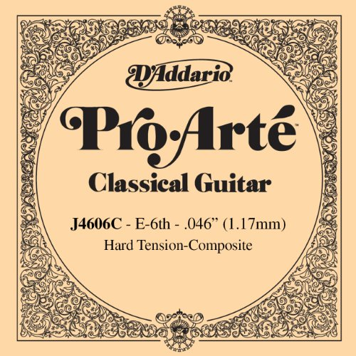 D'Addario J4606C Pro-Arte Nylon Classical Guitar Single String, Hard Tension, Sixth (Daddario Ej46c Pro Arte)