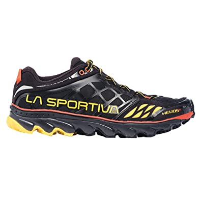 La Sportiva Helios SR Minimalist Men's Racing Trail Running Shoe, Black/ Yellow, 36.5