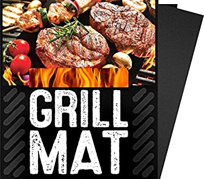 "BBQ Grill Sheets Mat ,100% Non Stick Safe ,Extra Thick,Reusable and Dishwasher safe, 3 piece of (13""x15.75"") from G & F"
