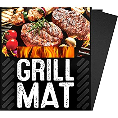 BBQ Grill Sheets Mat ,100% Non Stick Safe ,Extra Thick,Reusable and Dishwasher safe, 3 piece of (13 x15.75 )