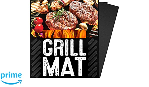 "G & F Products BBQ Grill Sheets Mat,100% Non Stick Safe,Extra Thick,Reusable and Dishwasher safe, 3 piece of (13""x15.75"")"