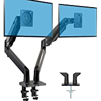 HUANUO Dual Monitor Stand - Double Gas Spring Arm Monitor Desk Mount for Two 35 inch LCD LED Screens, Height Long…