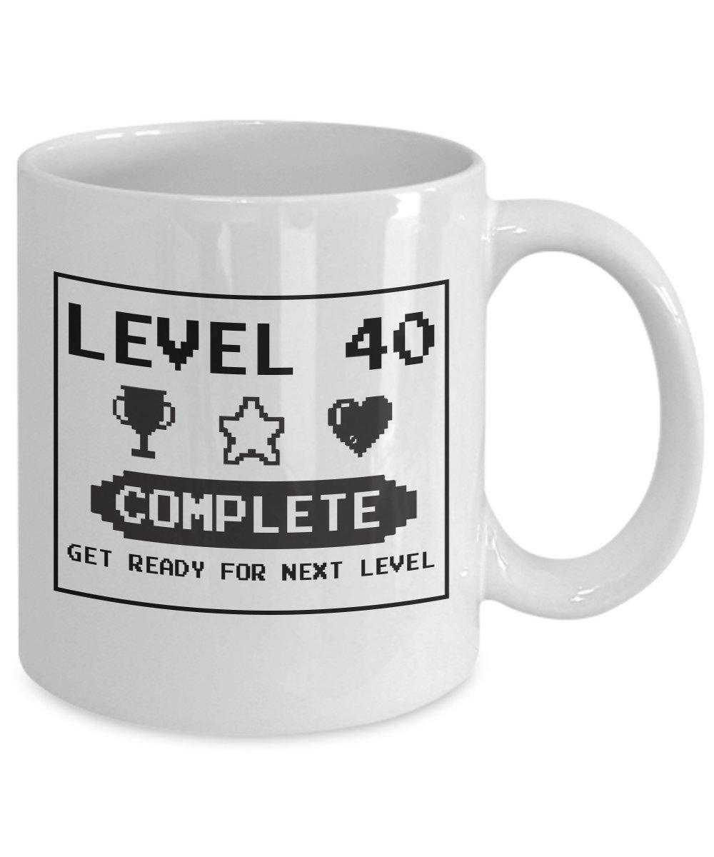 Happy 40th cumpleaños juegos Geek 1977 - Taza de ...